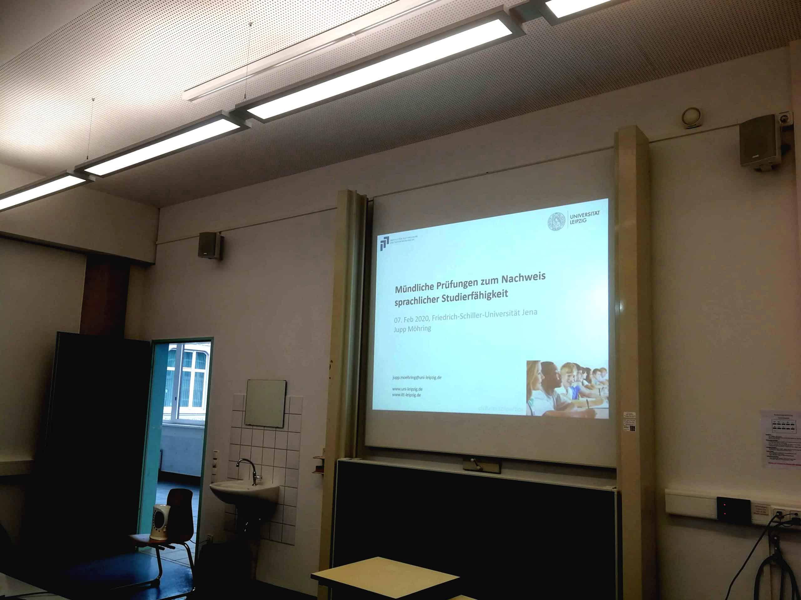 Mündliche Prüfungen  - Workshop in Jena